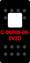 Black Switch Cap single White Lens (ON)-OFF