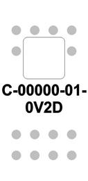 White Switch Cap single White Lens  (ON)-OFF