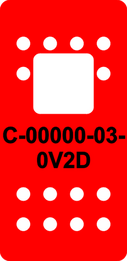 Red Switch Cap single White Lens  (ON)-OFF