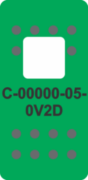 Green Switch Cap single White Lens (ON)-OFF