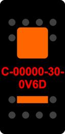 Black Switch Cap dual Orange Lens  ON-OFF-ON