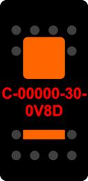Black Switch Cap dual Orange Lens  (ON)-OFF-(ON)