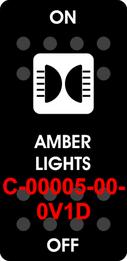 """AMBER LIGHTS"" Black Switch Cap single White Lens  ON-OFF"