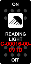 """READING LIGHT""   Black Cap single White Lens  ON-OFF"