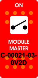 """MODULE MASTER"" (ON)-OFF Red Switch Cap single White Lens"