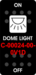 """DOME LIGHT""   Black Switch Cap single White Lens  ON-OFF"