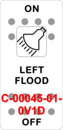 """LEFT FLOOD""  White Switch Cap single White Lens ON-OFF"