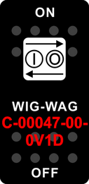 """WIG-WAG""  Black Switch Cap single White Lens ON-OFF"
