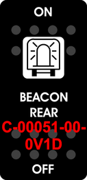 """BEACON REAR""  Black Switch Cap single White Lens ON-OFF"