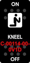 """""""KNEEL""""  Black Switch Cap single White Lens   ON-OFF"""