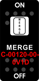 """MERGE""  Black Switch Cap single White Lens  ON-OFF"