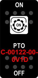 """PTO""  Black Switch Cap sinlge White Lens  ON-OFF"