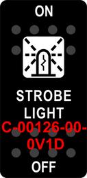 """""""STROBE LIGHT""""  Black Switch Cap single White Lens  ON-OFF"""