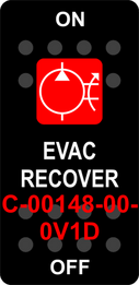 """EVAC RECOVER""  Black Switch Cap single Red Lens  ON-OFF"