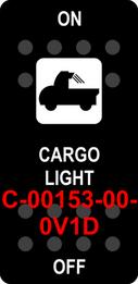 """""""CARGO LIGHT""""  Black Switch Cap single White Lens  ON-OFF"""