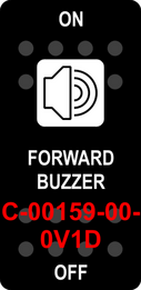 """FORWARD BUZZER""  Black Switch Cap sinlge White Lens  ON-OFF"