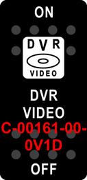 """""""DVR VIDEO""""  Black Switch Cap single White Lens  ON-OFF"""