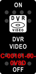 """DVR VIDEO""  Black Switch Cap single White Lens  ON-OFF-ON"