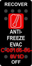 """""""RECOVER ANTI-FREEZE""""  Black Switch Cap single Red Lens  ON-OFF"""
