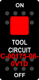 """""""TOOL CIRCUIT""""  Black Switch Cap single Red Lens ON-OFF"""