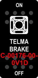 """TELMA BRAKE""  Black Switch Cap single White Lens  ON-OFF"