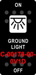 """GROUND LIGHT""  Black Switch Cap single White Lens  ON-OFF"