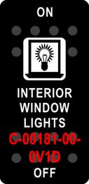"""INTERIOR WINDOW LIGHTS""  Black Switch Cap single White Lens ON-OFF"