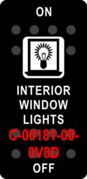 """INTERIOR WINDOW LIGHTS""  Black Switch Cap single White Lens (ON)-OFF-(ON)"