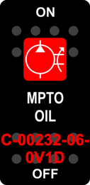 """MPTO OIL"" Black Switch Cap single Red Lens ON-OFF"