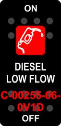 """DIESEL LOW FLOW""  Black Switch Cap single Red Lens  ON-OFF"