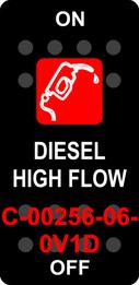 """DIESEL HIGH FLOW""  Black Switch Cap single Red Lens  ON-OFF"
