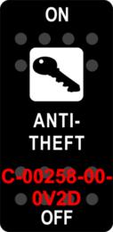 """ANTI THEFT""  Black Switch Cap single White Lens  (ON)-OFF"