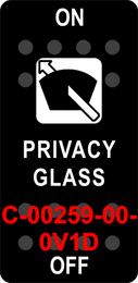 """""""PRIVACY GLASS""""  Black Switch Cap single White Lens  ON-OFF"""