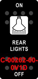 """REAR LIGHTS""  Black Switch Cap single White Lens  ON-OFF"