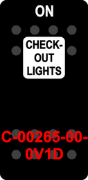 """""""CHECKOUT LIGHTS""""  Black Switch Cap single White Lens ON-OFF"""