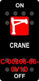 """CRANE""  Black Switch Cap single Red Lens ON-OFF"