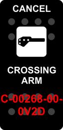 """CROSSING ARM CANCEL""  Black Switch Cap single White Lens"