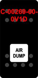 """AIR DUMP""  Black Switch Cap single White Lens"