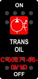 """""""TRANS OIL""""  Black Switch Cap single White Lens ON-OFF"""