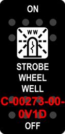 """""""STROBE WHEEL WELL""""  Black Switch Cap single White Lens ON-OFF"""