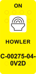 """""""HOWLER""""  Yellow Switch Cap single White Lens (ON)-OFF"""