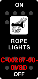 """""""ROPE LIGHTS""""  Black Switch Cap single White Lens (ON)-OFF-(ON)"""