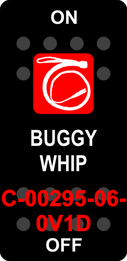 """BUGGY WHIP""  Black Switch Cap single Red Lens ON-OFF"