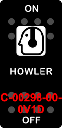 """HOWLER""  Black Switch Cap single White Lens ON-OFF"