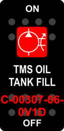"""TMS OIL TANK FILL""  Black Switch Cap single Red Lens ON-OFF"