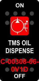 """TMS OIL DISPENSE""  Black Switch Cap single Red Lens ON-OFF"