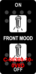 """""""FRONT MOOD""""  Black Switch Cap dual White Lens  ON-OFF-ON"""