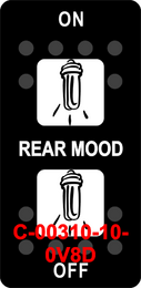 """""""REAR MOOD""""  Black Switch Cap dual White Lens  (ON)-OFF-(ON)"""