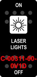 """LASER LIGHTS""  Black Switch Cap single White Lens  ON-OFF"
