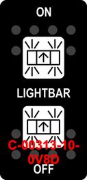 """LIGHTBAR""  Black Switch Cap dual White Lens  ON-OFF-ON"